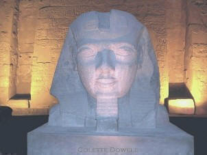 Image of Rameses at Luxor Temple in Egypt Photoraph by Colette Dowell