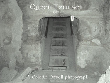 Image of Queen Henutsen pyramid photograph by Colette Dowell interior first room entrance