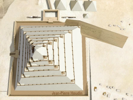 Jean-Pierre Houdin Great Pyramid Internal Ramp Theory model graphic